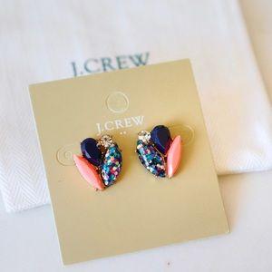 J. Crew Blue Stone Glitter Cluster Stud Earrings